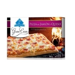 PIZZA FAMILIAR 30*40 JAMÓN Y QUESO 1 KILO
