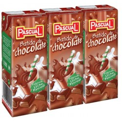 PACK BATIDO CHOCOLATE PASCUAL BRICK 20 CL*3 UNID