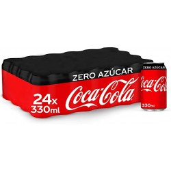 COCA COLA ZERO LATA 330 ML PACK 24 UNID